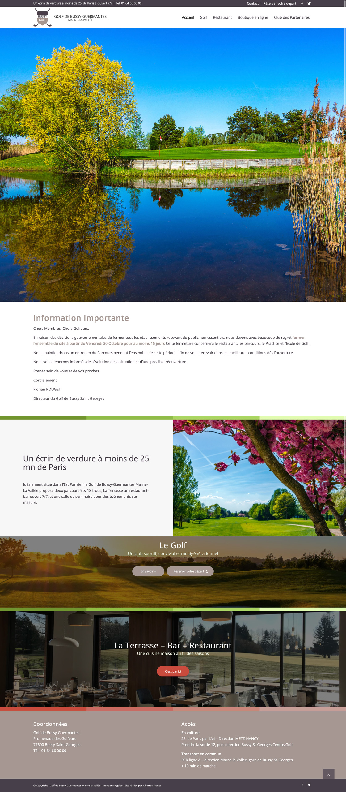 golf bussy Guermantes Marne la Vallee screenshot