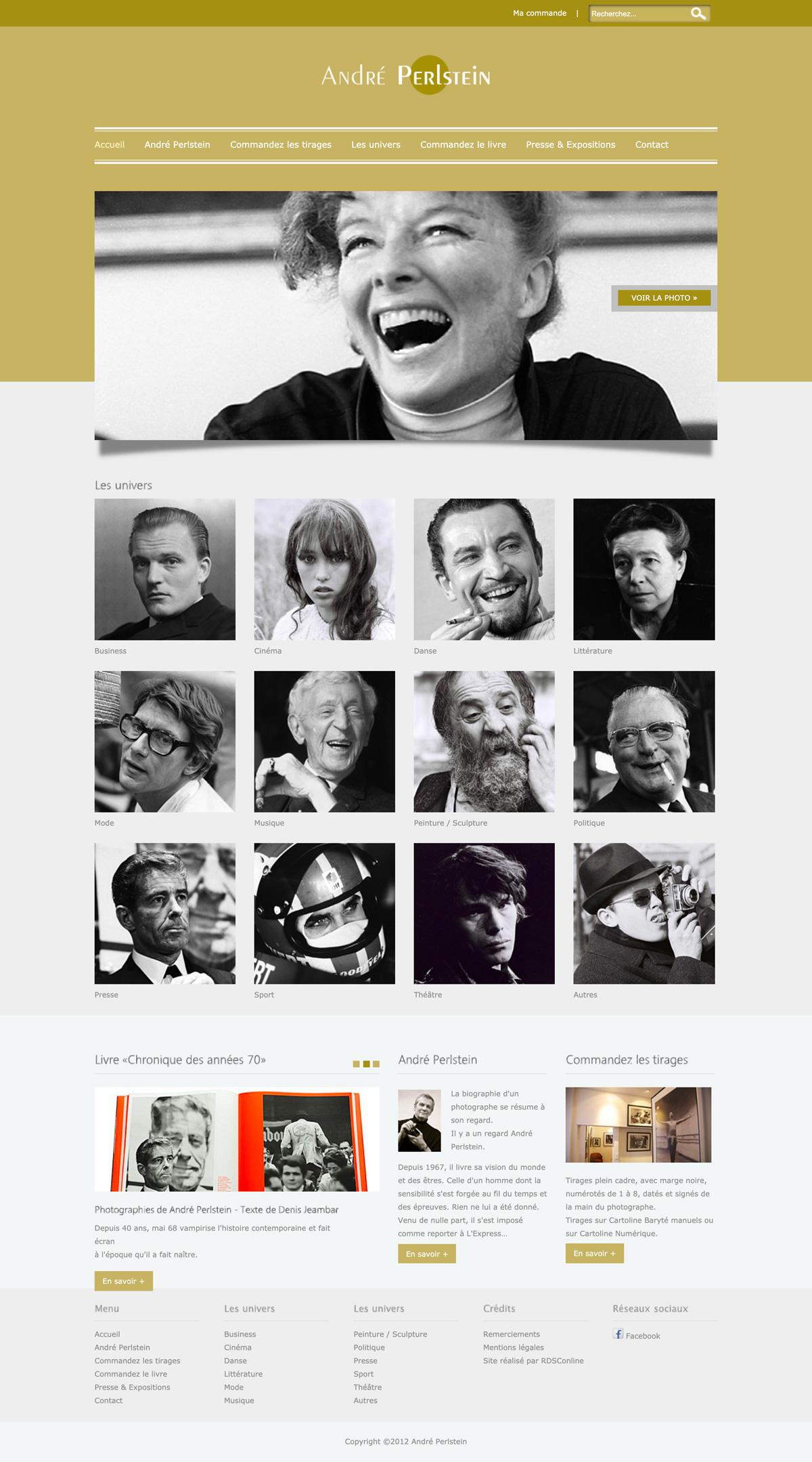 rdsc andre perlstein website screenshot