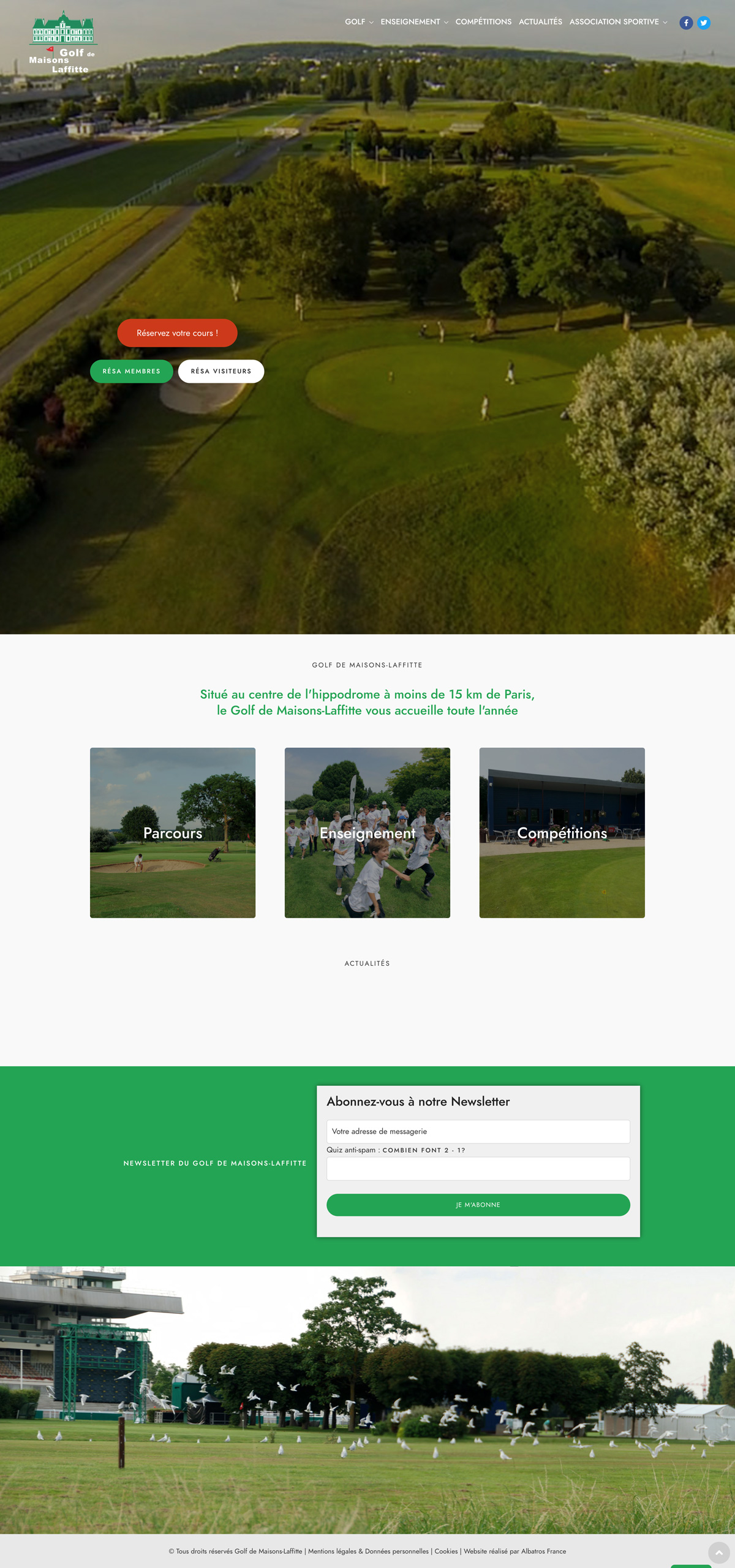 rdsc mistral golf maisons laffitte website screenshot