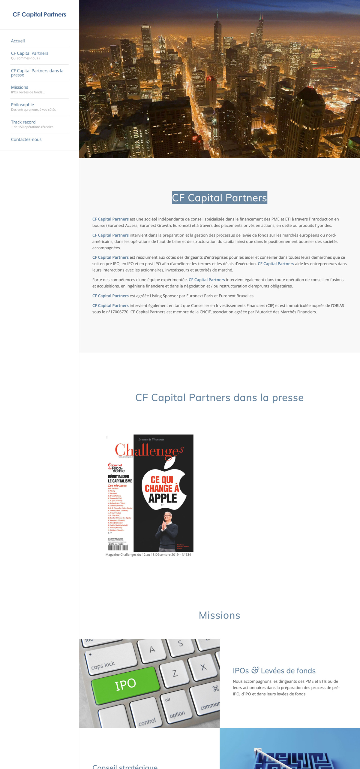 rdsc cf capital partners website screenshot