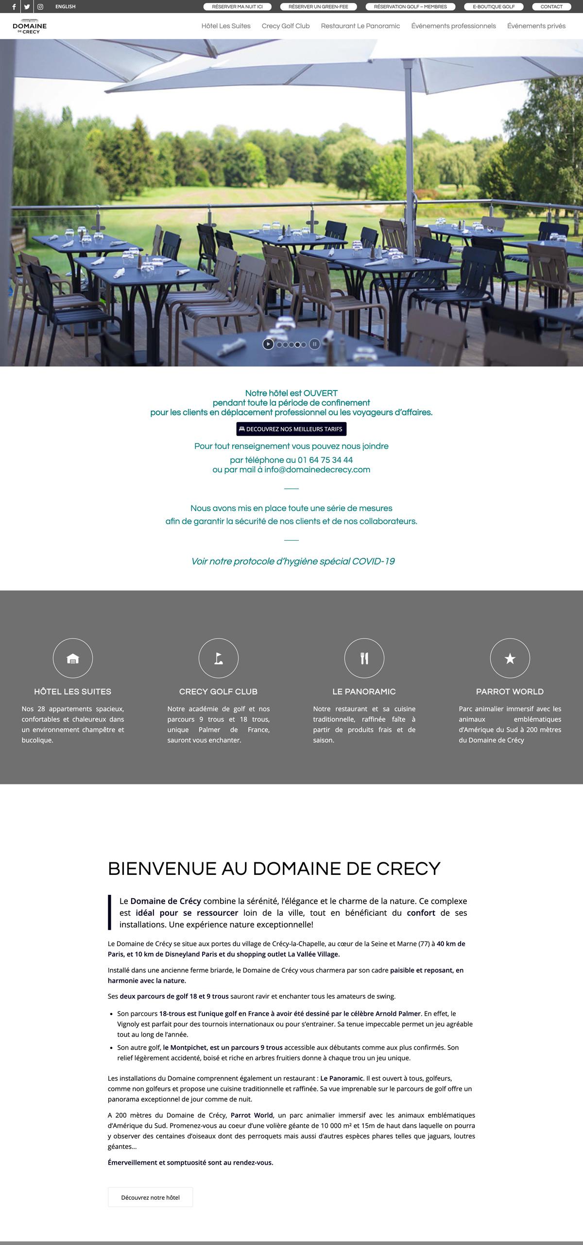 rdsc domaine crecy website screenshot