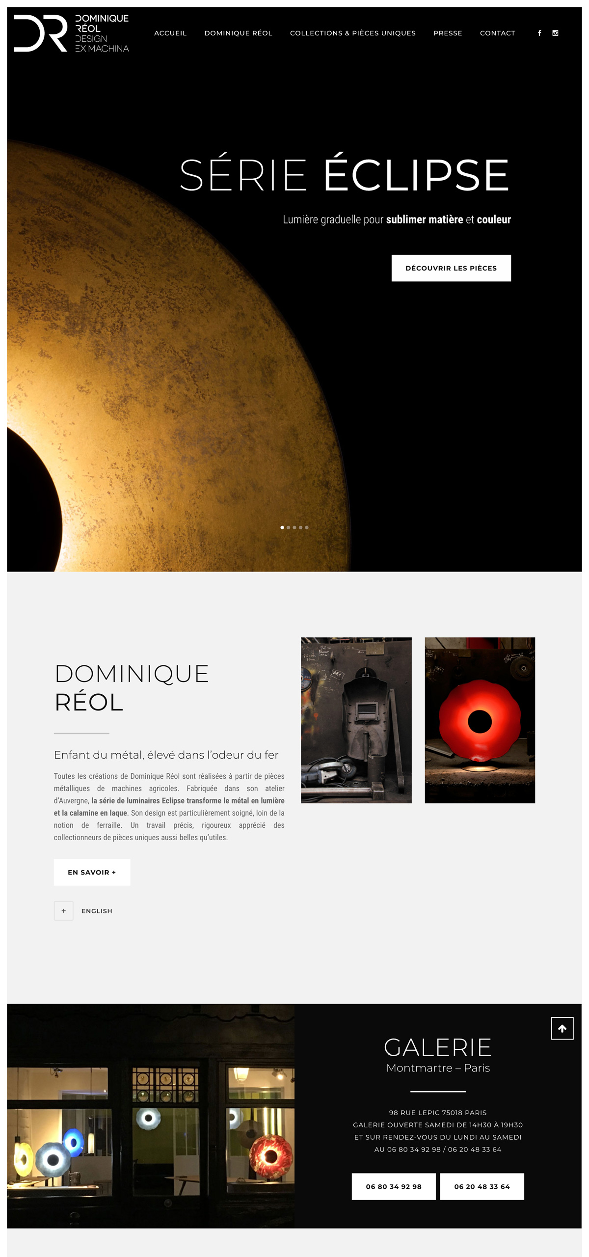 rdsc dominique reol website screenshot