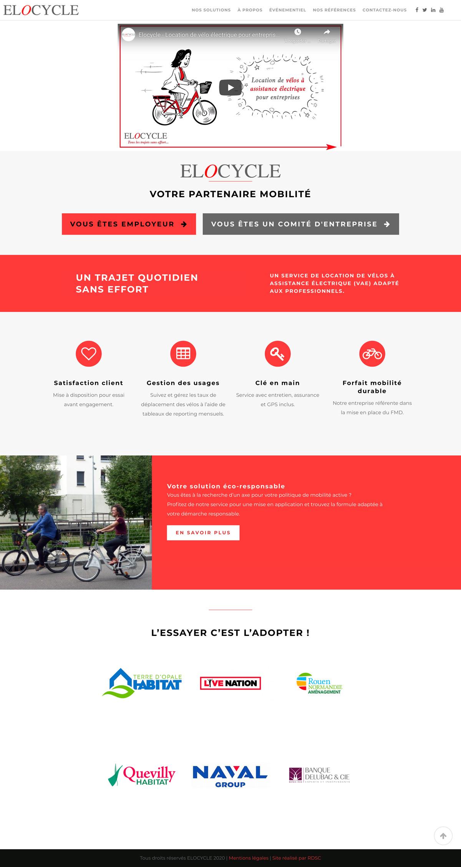rdsc elocycle website screenshot