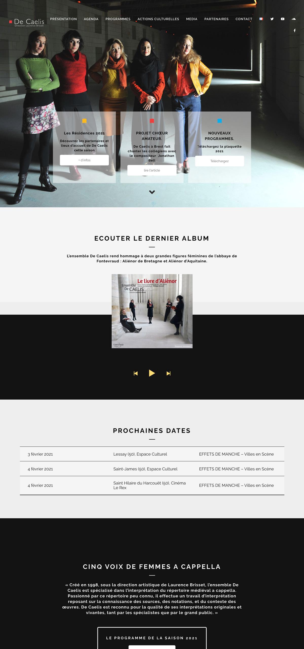 rdsc ensemble de caelis website screenshot