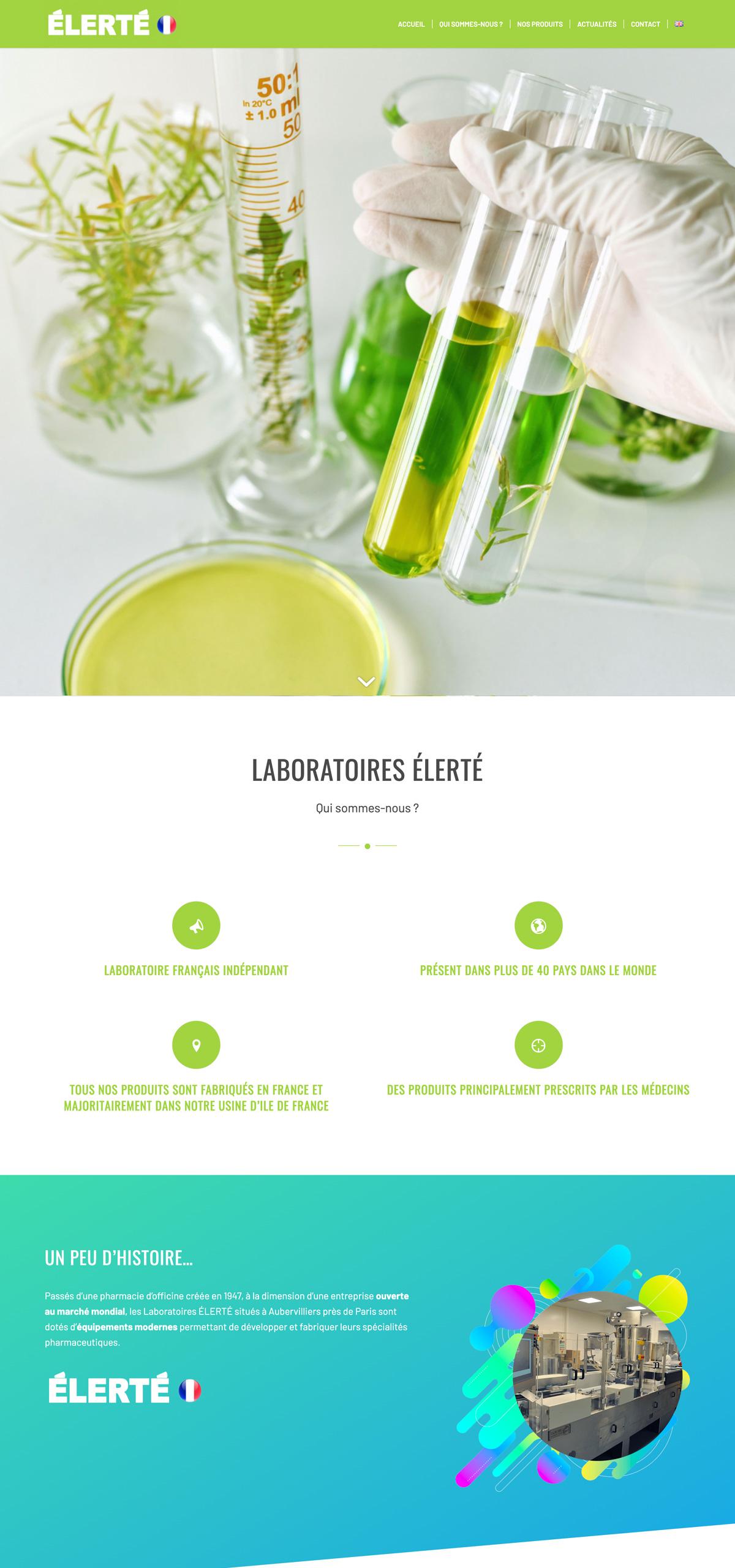 rdsc glaboratoires elerte website screenshot