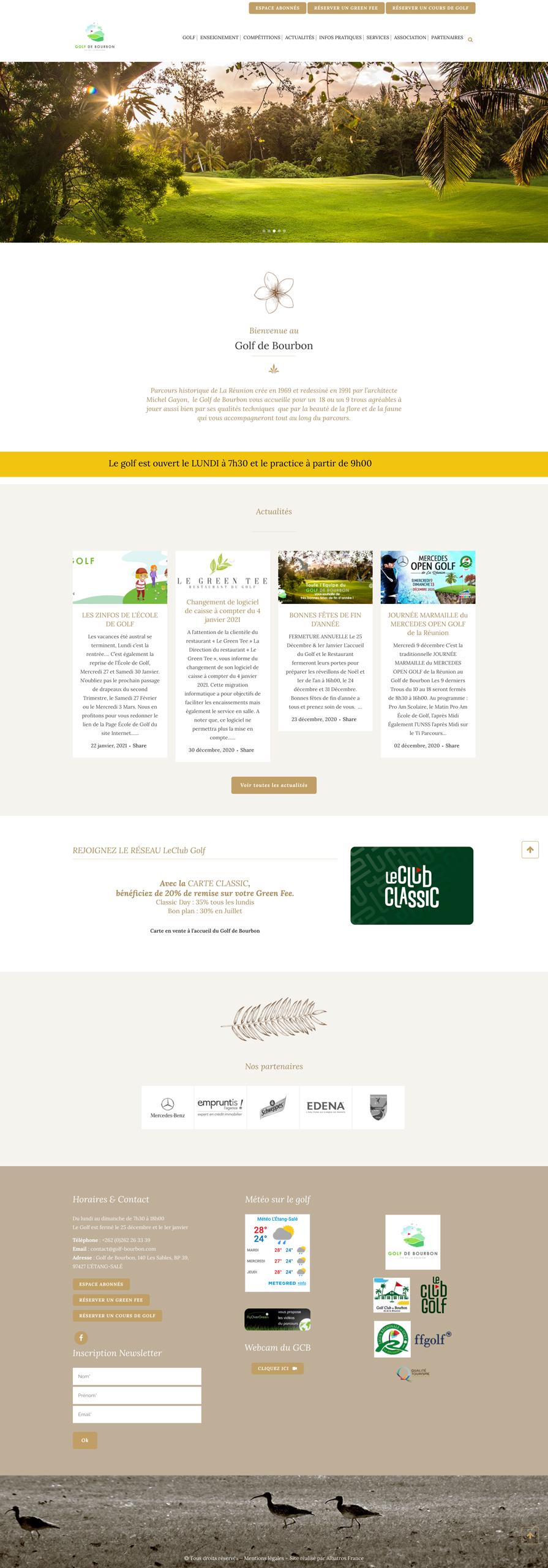 rdsc golf bourbon website screenshot