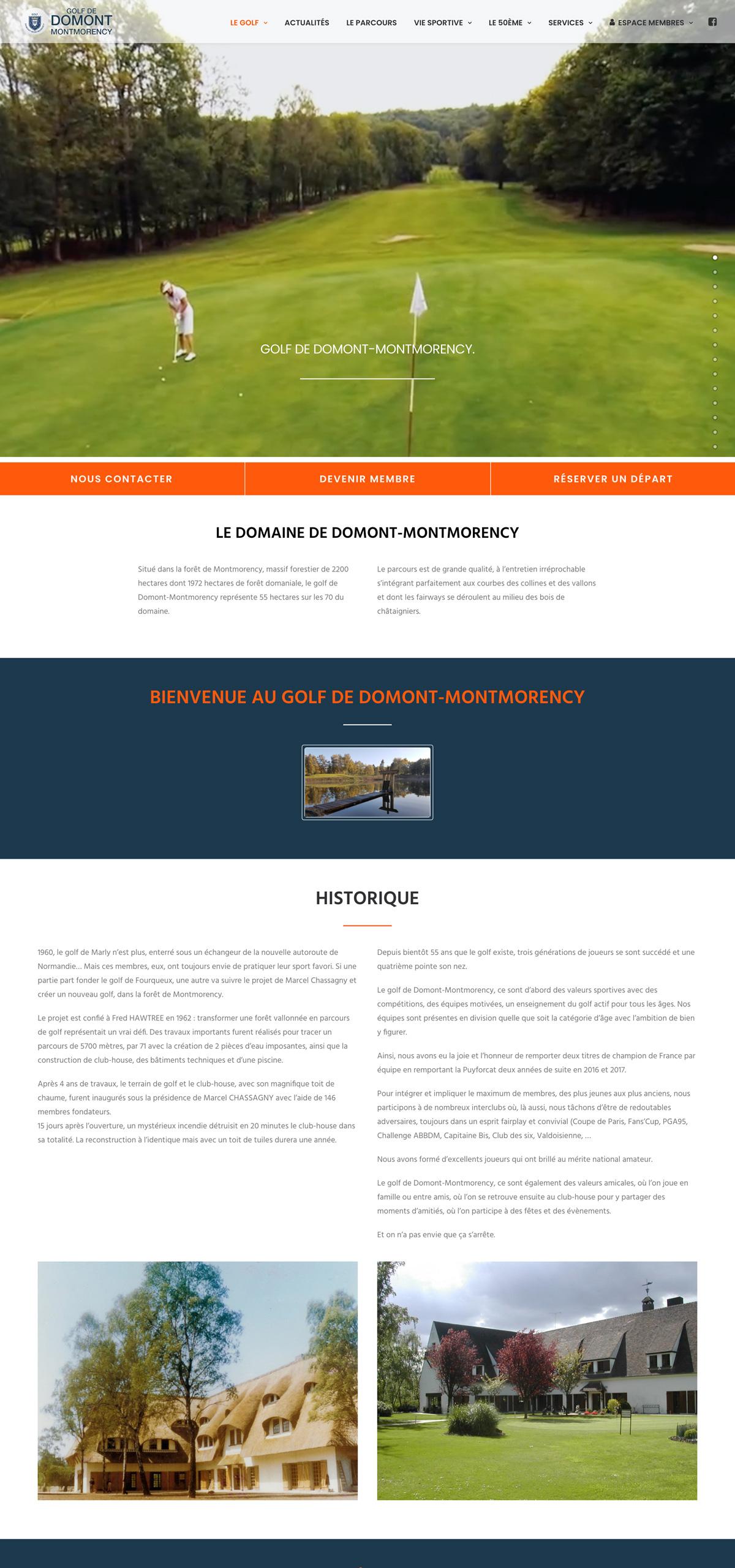 rdsc golf de domont website screenshot
