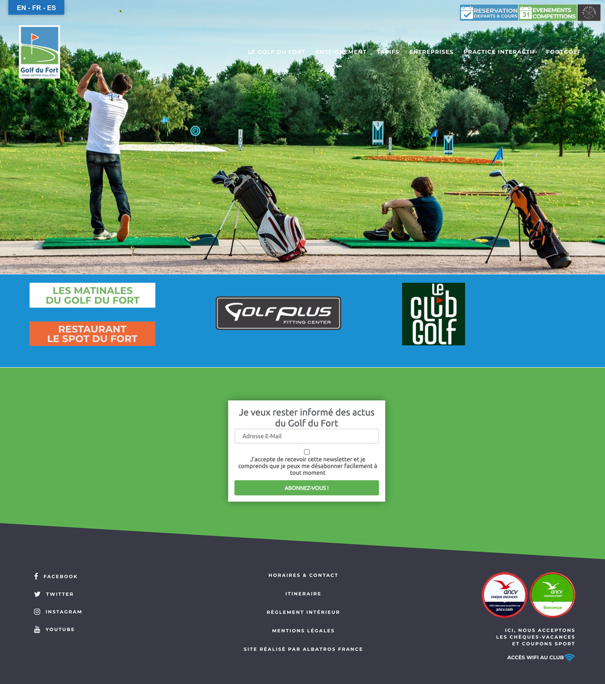 rdsc golf du fort website screenshot