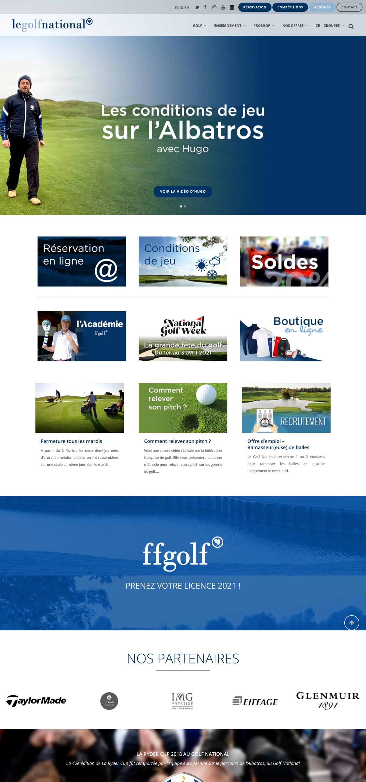 rdsc golf national website screenshot