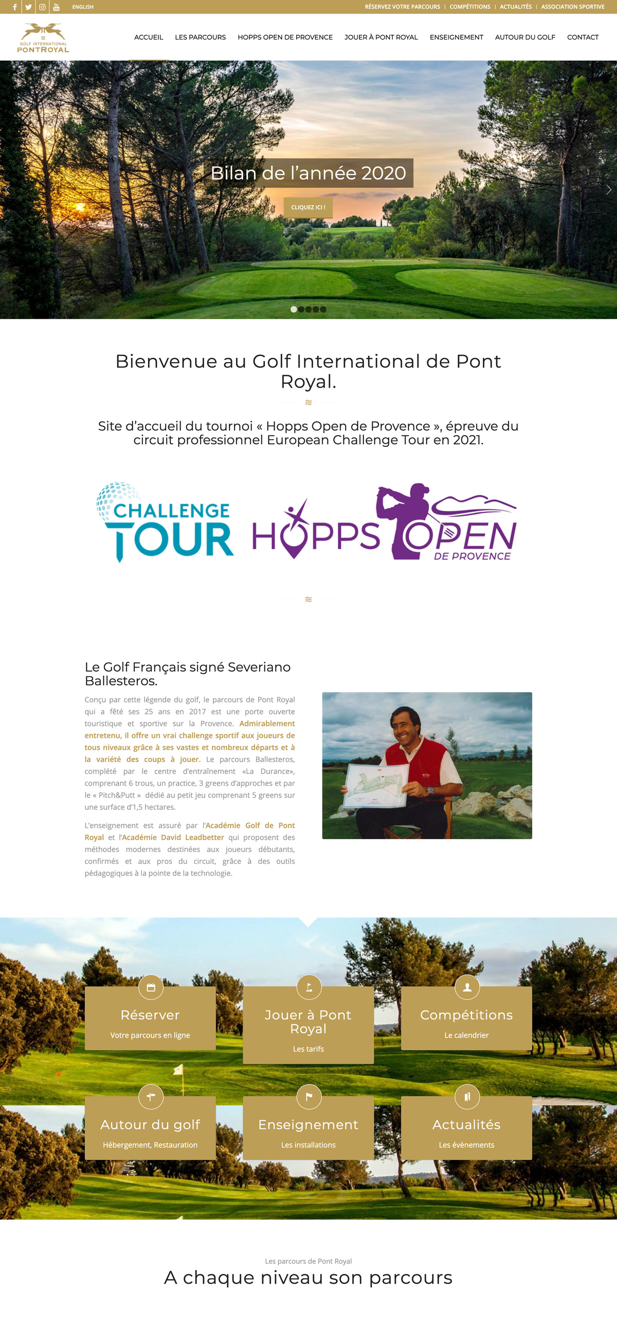 rdsc golf pont royal website screenshot