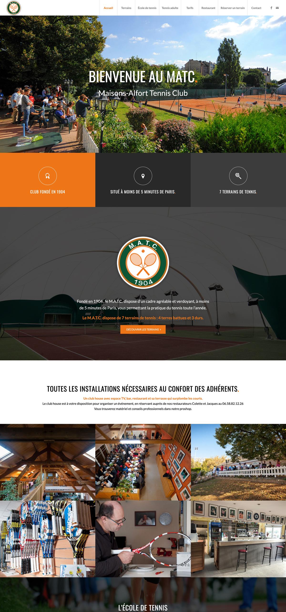 rdsc maisons alfort tennis club website screenshot