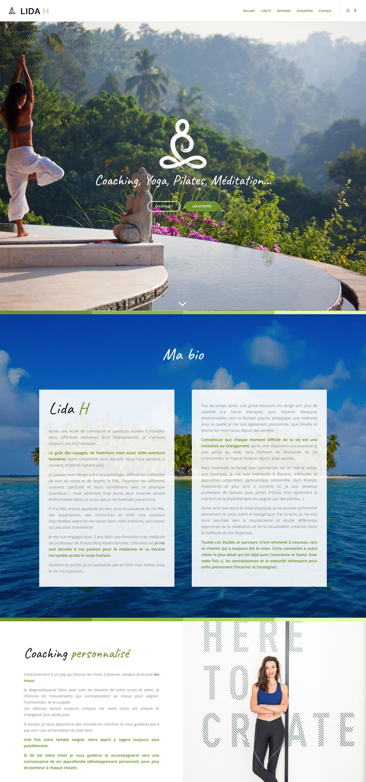 rdsc yoga lida h website screenshot